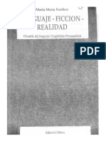 Foulkes, María Marta - Lenguaje, Ficción, Realidad