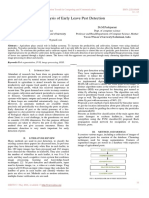 Analysis of Early Leave Pest Detection