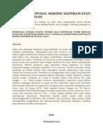 Contoh Proposal Skripsi Keperawatan Medikal Bedah