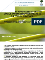 The trophicity Improvement of CERTAIN Nardus stricta mountain meadows IN the Apuseni Mountains