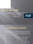 Lord Binghams Eight Principles- The Rule