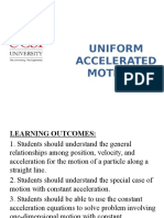 3. MF006 Lecture 3 - Uniform Accelerated Motion 1