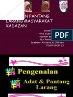 Adat Dan Pantang Larang Masyarakat Kadazan. Newppt