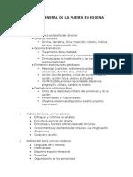 Estructura General de La Puesta en Escena