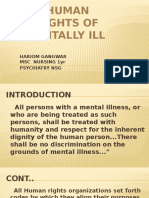 Human Rights of Mentally Ill