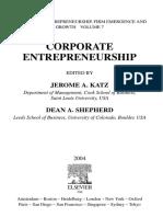ENTREPRENEURSHIP Corporate Entrepreneurship