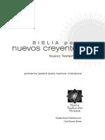 Biblia Para Nuevos Creyentes