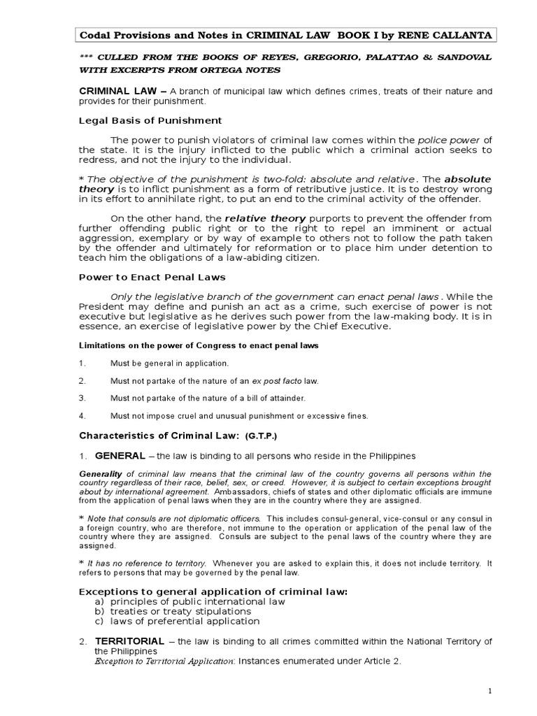 34677973 criminal law book1 | intention (criminal law) | crimes