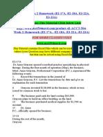 ACCT 504 Week 2 Homework (E2-17A, E2-18A, E3-22A, E3-23A)