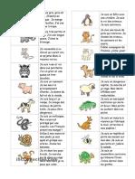 francés primaria Domino Animales Caracteriticas