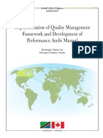 Performance and Quality Audit Manual