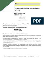 Communication Protocol EMA IM145 U v5.9