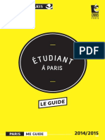 Etudiant a Paris Le Guide 2014