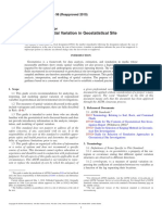 D5922-96(2010) Standard Guide for Analysis of Spatial Variation in Geostatistical Site Investigations