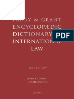 John P Grant, J.craig Barker-Parry and Grant Encyclopaedic Dictionary of International Law -Oxford University Press, USA (2009)