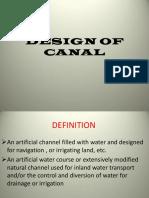 Canal Design