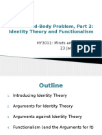 Week 3 - Identity Theory and Functionalism