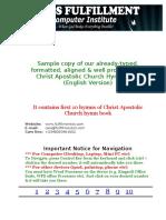 Christ Apostolic Church Hymn Book English Version Sample