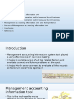 Management Accounting Information as a Decision Making Tool