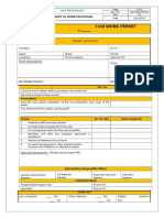 Cold Work Permit Hse-ptw