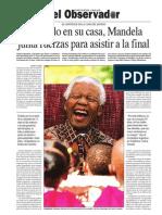 Nelson Mandela, el anfitrión de la Copa del Mundo Sudáfrica 2010