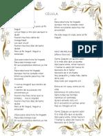Canciones Célula # 1
