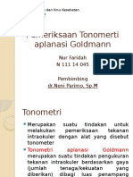 Tonometri Aplanasi Goldman