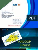 Hadoop Course Content