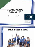 Clase 3 Los Numeros Ordinales 1B Semana 7 2015