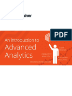 Advanced Analytics Introduction