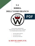 La Bibbia Dell Uomo Bianco