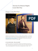 Canadian Museum for Human Rights Celebrates Louis Riel Day