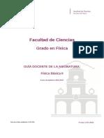 Guia Docente 279191202 - Fisica Basica II - Curso 1617