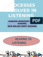 P3 Processes Involved in Listening