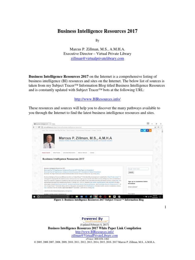 Business Intelligence Resources | Business Intelligence | Analytics