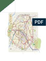Plan Pistes Cyclables Paris