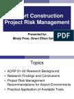 Mindy Price - Construction Risk