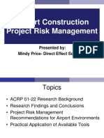 Mindy Price - Construction Risk