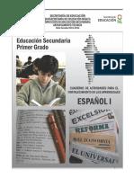 Español 1. Cuadernillo de Actividades
