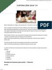Exemple de Business Pour Un Restaurant