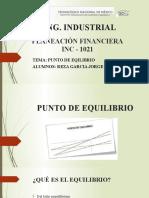 Punto de Equilibrio (Planeación Financiera) (1)