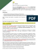 Clases Derecho intrnacional privado y resumen del libro