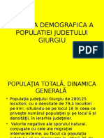 Analiza Demografica a Populatiei Judetului Giurgiu