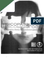 Psicopatologia_Capítulo 01_Visão Geral Para o Entendimento Do Comportamento Anormal