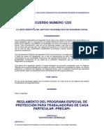 Acuerdo 1235 Empleadas Domésticas IGSS