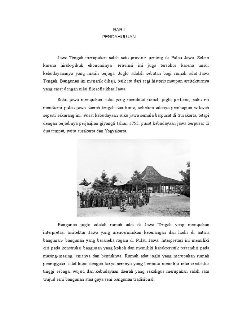 Gambar Rumah Adat Joglo Dari Jawa Tengah Rumah Joglo