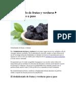 Deshidratado de Frutas y Verduras