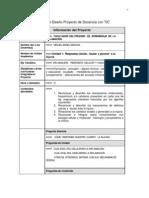 Pantilla Diseño Proyecto de Docencia con TIC