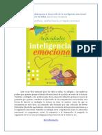 Actividades Para El Desarrollo de La Inteligencia Emocional en Los Nic3b1os