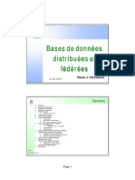 Bases de Donnees Distribuees Et Federees